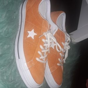 Orange Suede Coverse One Star